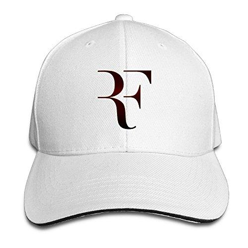 Huseki Roger Federer Sandwich Baseball Caps For Unisex Adjustable White