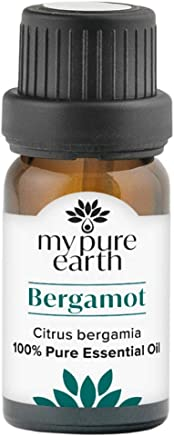 Bergamot Essential Oil, 100% Pure, Sustainably Sourced, Organically Crafted, Aromatherapy, My Pure Earth, 10ml