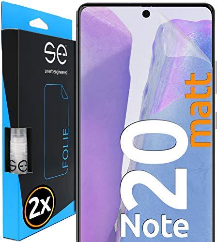 [2 Stück] Entspiegelte 3D Schutzfolien kompatibel mit Samsung Galaxy Note 20, hüllenfre&liche matte Bildschirmschutz-Folie, Schutz vor Dreck & Kratzern, kein Schutzglas - smart engineered