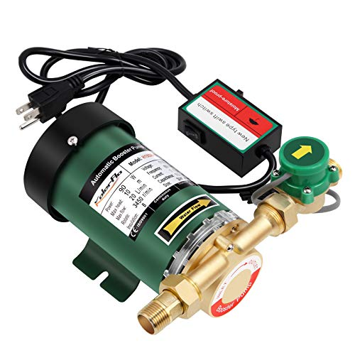 KOLERFLO 90W Water Pressure Booster Pump 115VAC,317 GPH,21.7 PSI Household Automatic Shower Booster Pump with Water Flow Switch for Home/Shower (H15GR-10)