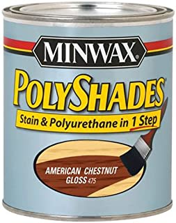 Minwax 614750444 PolyShades - Stain & Polyurethane in 1 Step, quart, American Chestnut, Gloss