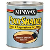 Minwax 614750444 PolyShades - Stain & Polyurethane in 1 Step, quart, American Chestnut, Gloss