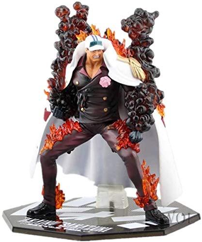 Yooped One Piece Figure Aokiji-Kuzan e Admiral Akainu Figure Figura de Anime Figura de acción (Color: Aokiji-Kuzan)-Admiral Akainu