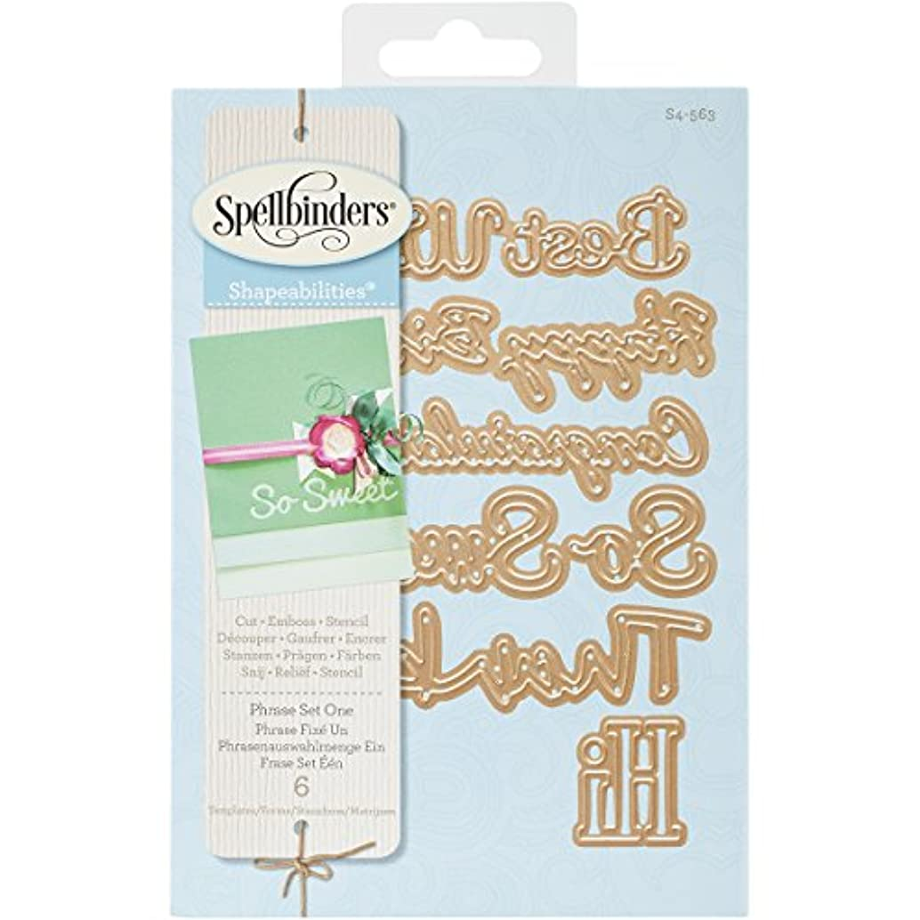 Spellbinders S4-563 Shapeabilities Phrase Set, Large Etched/Wafer Thin Dies