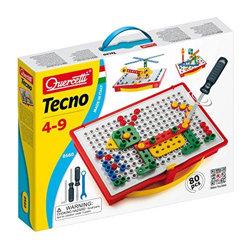 Quercetti 0560 - Fantacolor Tecno bouwdoos met gereedschap en schroeven
