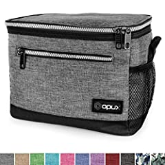 This premium medium capacity insulated lunch bag with shoulder strap easily fits more than 1 person's lunch, and is ideal for adult men, women, teens for packing lunch to work or school. Its convenient size make it a versatile choice for packing snac...