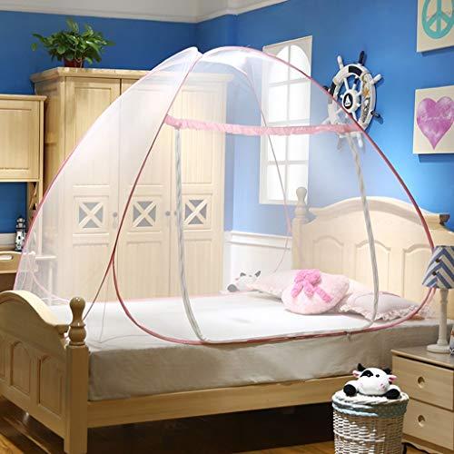Willlly muggennet tent voor dubbel casual chic bed buiten muggennet overkapping dubbele deur antimoskito beten 1,2 1,5 m 1,8 m voor kinderen volwassenen kleine kinderen reis opgevouwen