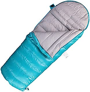 XHHWZB Children Envelope Sleeping Bags White Goose Down for Kids Camping Blue Pink Two Ways Zipper 160 * 70cm