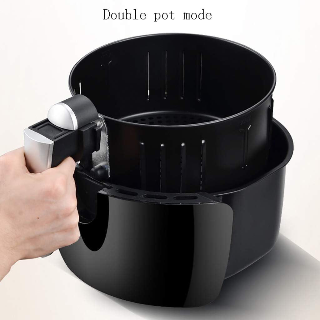 XIAOYY Air Fryer, électrique à air Chaud friteuses Four Oilless Cooker avec écran LCD numérique Friteuse électrique et antiadhésives Friture Pot, (Noir) (Color : Black) Black