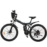 BIKFUN Vélo électrique pliable, 26 pouces, 26 pouces, batterie au lithium 36 V 8 Ah, moteur 250 W,...