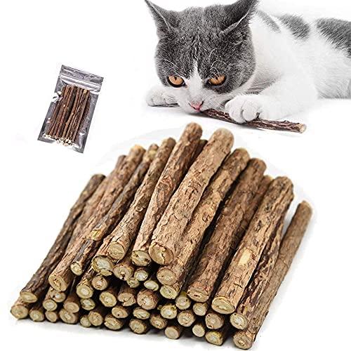 Palitos de Catnip para Gatos,Juguete para morder para Gatos Natural Matatabi Dental, Paquete de 30 Unidades