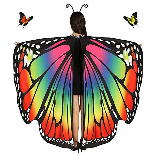 Butterfly Wings For Women (Rainbow)