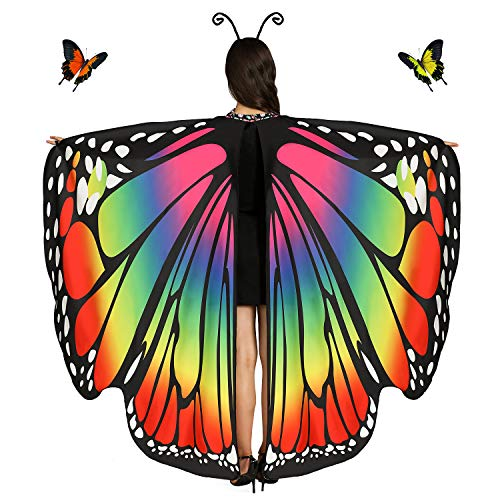 Butterfly Wings For Women (Rainbow)