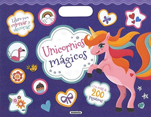 Unicornios mágicos (Colorea y pega con 200 pegatinas)