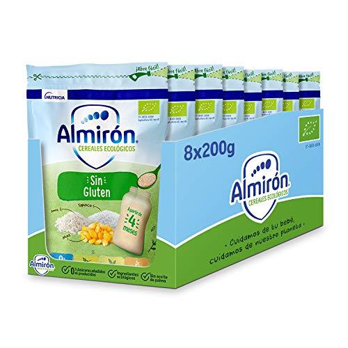 Almirón Cereales Ecológicos Sin Gluten. Pack Bolsas X200G-1.6Kg, 8 Unidades