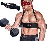 AQF Arm Blaster Aislador de Biceps para Levantamiento de Pesos Barbell con Barra para el Entrenamiento de Brazos y el Curl Bombardero