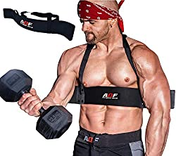 AQF Arm Blaster Bizeps Isolator Langhantelstange Kraftsport Arm Training Bodybuilding Bomber Curl Gym Workout