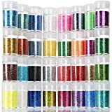 Teenitor Fine Glitter, 32 Jars 8g Each Glitter Set, 32 Assorted Color Arts and Craft glitter, Eyeshadow Makeup...