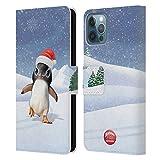 Head Case Designs Licenciado Oficialmente Animal Club International Penguin Animals Carcasa de Cuero Tipo Libro Compatible con Apple iPhone 12 / iPhone 12 Pro