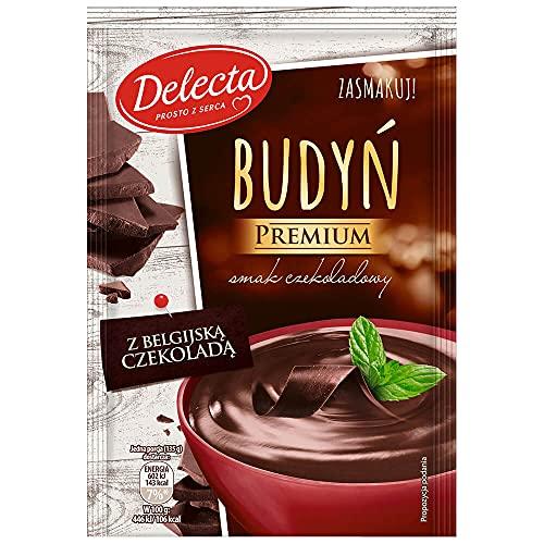 Delecta Budyń premium smak czekoladowy z belgijską czekoladą - 47 g