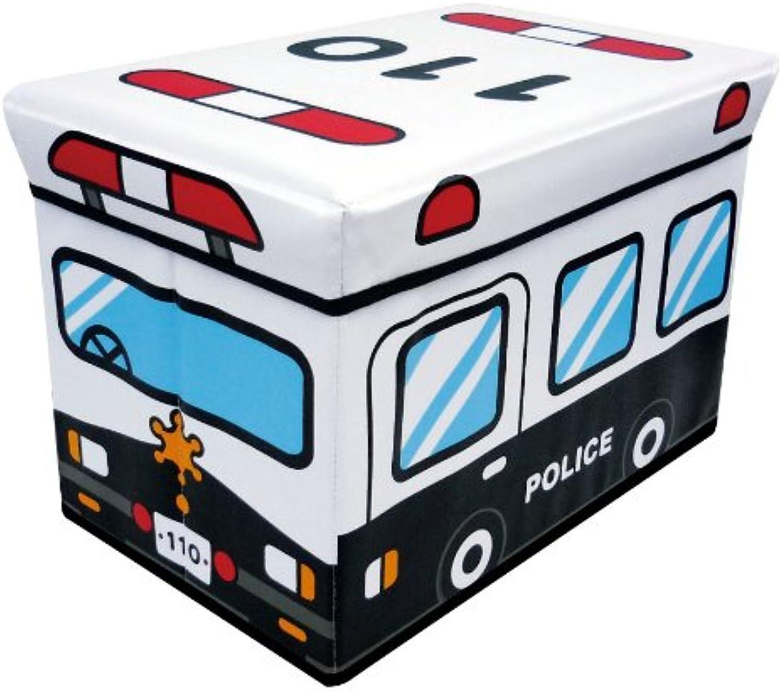 Storage box stool patrol car (japan import)