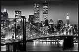 Close Up New York Poster Lights World Trade Center/Brooklyn