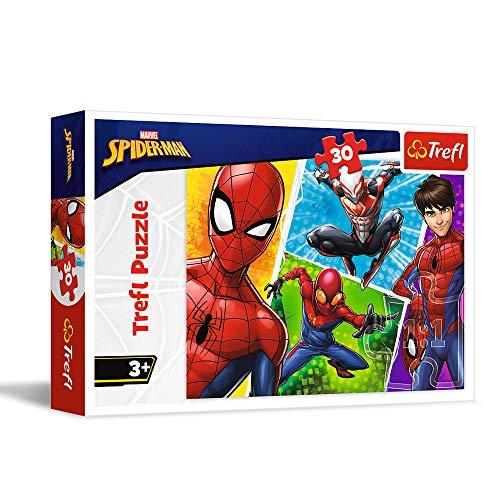 Trefl und Miguel, Marvel Spiderman 30 Teile, für Kinder AB 3 Jahren Puzle. (18242)