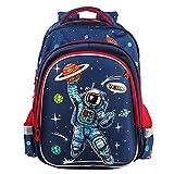Wenlia Mochila para niños, mochila para estudiantes con bolsillos laterales, impermeable, dinosaurio, casual, mochila de viaje, astronauta, regalo para niños, regreso a la escuela