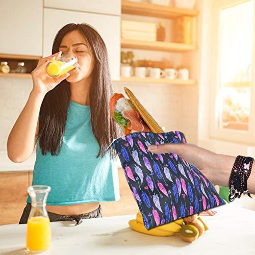 earlyad Bolsa de sándwich Bolsas de Almacenamiento de Alimentos Impermeables Reutilizables de 3 Piezas para sándwich de Almuerzo, bocadillos de Comida, Frutas, organización de Viajes a casa imaginative
