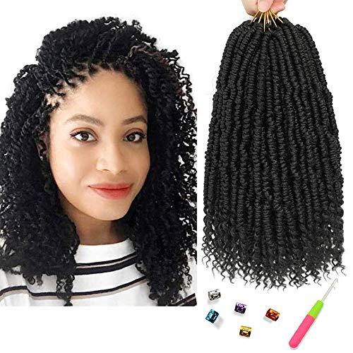 Spring Twist Crochet Hair Passion Twist hair 12 Inch 6 Packs Pre looped Twists Braiding Hair Crochet Braids Fluffy Pretwisted Synthetic Hair Extension