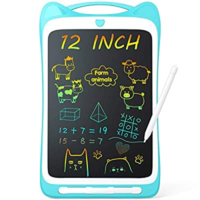 """Jasonwell Kids Drawing Pad Doodle Board 12"""" Colorful Toddler Scribbler Board Erasable LCD Writing Tablet Light Drawing Board Educational and Learning Toys Gifts for 3 4 5 6 7 8 Year Old Girls Boys"""