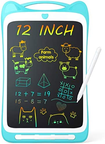 Jasonwell Kids Drawing Pad Doodle Board 12 Colorful Toddler Scribbler Board Erasable LCD Writing product image