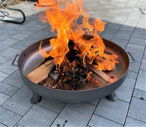 Feuerschale Kiel Ø 55 cm für den Garten und Terrasse ; langlebig und stabil für gemütliche Lagerfeuer