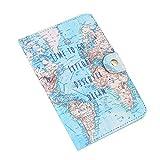 Gloglow, custodia per passaporto, in pelle PU, con stampa carina, per passaporto, per carte di credito e carte di credito