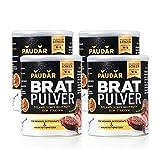 PAUDAR Bratpulver 4 x 125g | Vegan, leicht dosierbar | Reduziert Fettspritzer, fettarme Zubereitung...