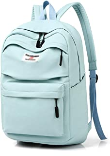 Backpack 14 inch, 15 inch, 15.6 inch Large Capacity Suitcase Notebook Shoulder Computer Bag, Fashion Backpack Campus Student Bag (Color : Green, Size : 15 inches)