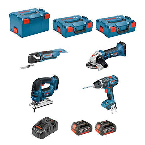 BOSCH Kit 12V BMK8BD3 GSR 12V-15 + GDR 12V-105 + GKS 12V-26 + GWS 12V-76 + GST 12V-70 + GOP 12V-LI + GSA 12V-14 + GLI 12V-80 + 3 x 2,0Ah + AL1230CV + L-Boxx 238 + L-Boxx 136 + L-Boxx 102