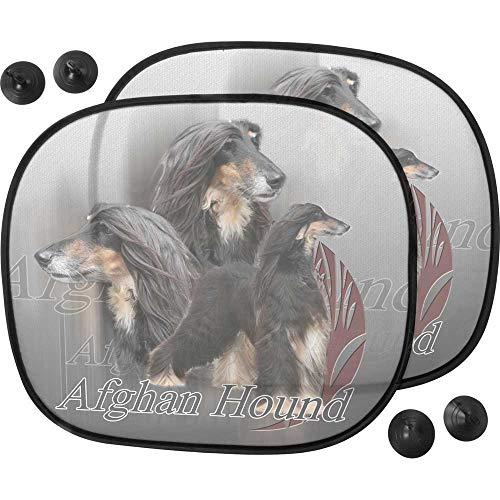 Pare Soleil Perro - Coche de galgo afgano, color negro