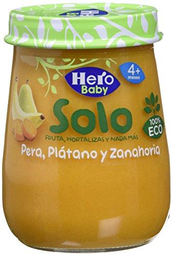 Hero Baby Pera, Zanahoria y Plátano, 120g
