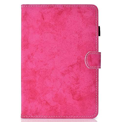 RZL PAD & TAB Fundas para iPad Mini 1 2 3, a prueba de golpes, soporte para bolígrafo, funda de piel sintética con función atril para iPad Mini 1 2 3 A1432 A1454 (color: rosa)