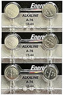 3 X Energizer LR44 1.5V Button Cell Battery, 6 Each