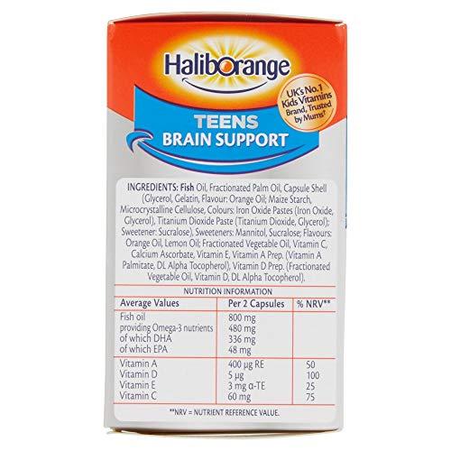 Haliborange Teensense Extra Omega-3 Fish Oil Orange Chewy Fruit Burst 30 Chewy Capsules