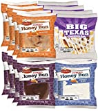 OMG, this has the CHOCOLATE honey buns included!! The best and hardest to find! Includes: 4x White Iced Honey Buns Includes: 4x Glazed Honey Buns Includes: 4x Big Texas Honey Buns Includes: 4x Chocolate Iced Honey Buns