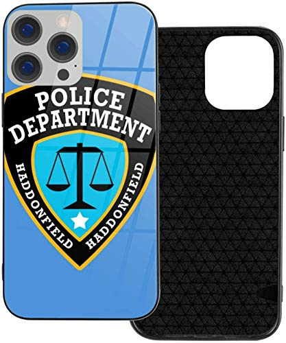 Can be Installed i-Phone 12 Tempered Glass Phone Case / 12 Pro / 12 Mini/MAX Shockproof Soft Case Haddonfield Police Department Beautiful and Handsome