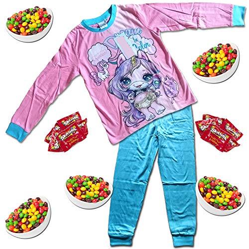 Poopsie Slime Surprise Rainbow Unicorn Kinder Pyjama + 10 Regenbogen-Leckereien – New Oopsie Starlight, Rainbow Brightstar, Dazzle Darling PJ Größen 3–10 Jahre Gr. 7-8 Jahre, Pink Oopsie Starlight