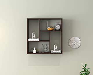 Furnifry Wooden Wall Mounted Floating Decorative Wall Shelf/Space Saving & Durable Book Shelf for Home/Living Room & Offic...