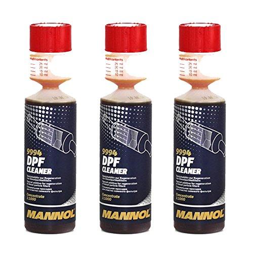MANNOL 3 x 250ml 9994 DPF Cleaner/Diesel Partikel Filter Reiniger Additiv Zusatz