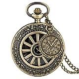 OYZY Reloj de Bolsillo de Esqueleto de la Vendimia, Medio...