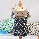 HKHJN Abrigo for Perros Invierno Babero en Forma de rombo Oso de Dibujos Animados transformando más Terciopelo Ropa de Cuatro Patas Mascota Cordero Cachemir (Color : Gray Diamond, Size : M)