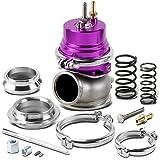 60mm Bolt-on 5/12/14 PSI External Turbo Exhaust Manifold Wastegate (Purple)